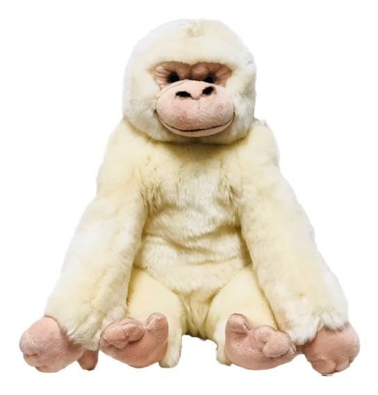 Gorila Pelúcia M 36cm Bege - Bbr Toys