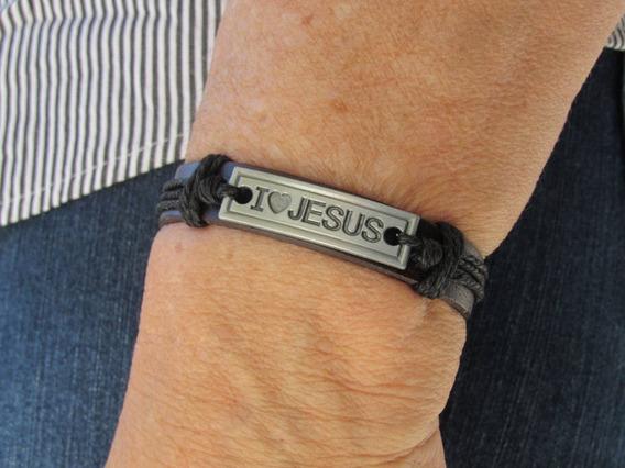 Pulseira Bracelete Jesus Courino Unissex Gospel Juvenil