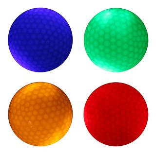 4 Piezas Brillan En Luz Led Oscura Bola De Golf Pelota De