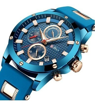 Reloj Para Caballero Biden De Cuarzo De Lujo Azul