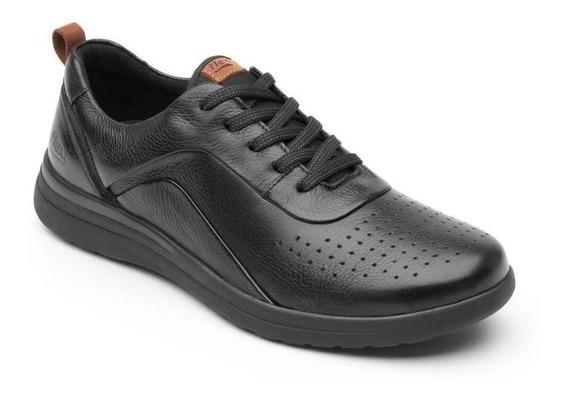 Tenis Sneaker Flexi Dama Mujer Negro Casual Confort