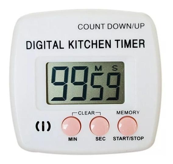Timer Digital De Cocina Numeros Grandes Con Iman Y Sujetado