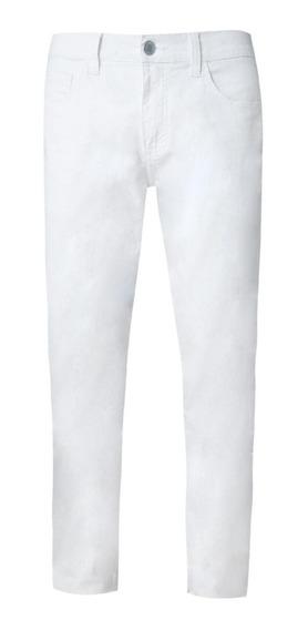 Calça Branca Tng Skinny Nova Calça Masculina Branca 12x S/ju