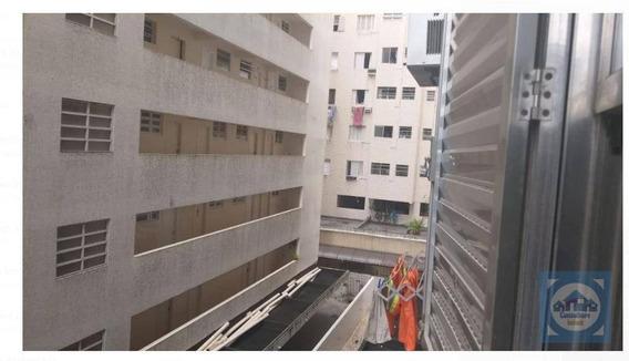 Kitnet Com 1 Dormitório Para Alugar, 35 M² Por R$ 1.100,00/mês - Ponta Da Praia - Santos/sp - Kn0628