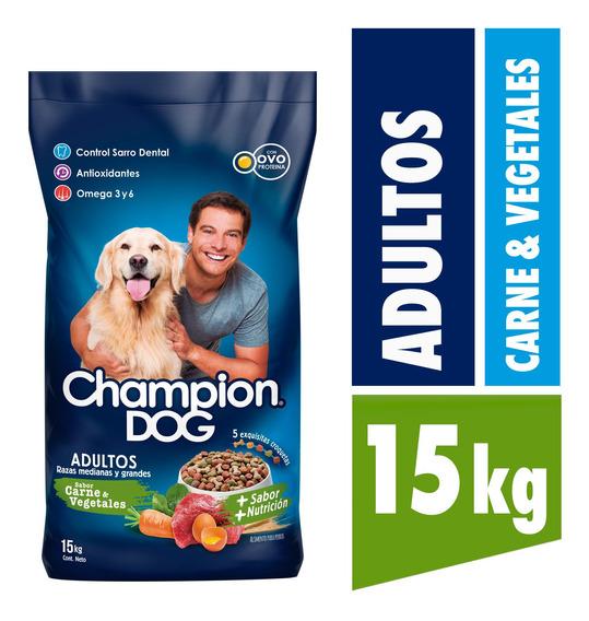 Alimento Perro Champion Razas Medianes Y Grandes C&v 15kg