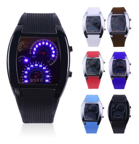 Reloj Aviation Tipo Velocimetro Luz Led Ultra Brillante