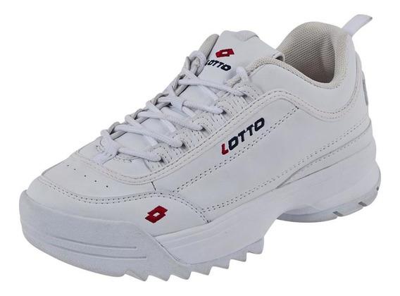 Tenis Mujer Lotto Color Blanco