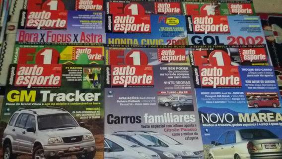 Revistas Auto Esporte Ano 2001, Mês 1,2,3,4,5,6