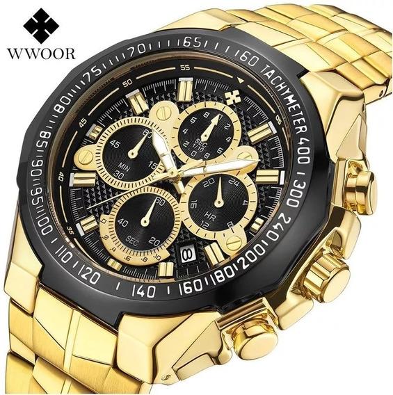 Relógio De Pulso Importado Suíço Masculino De Luxo Wwoor