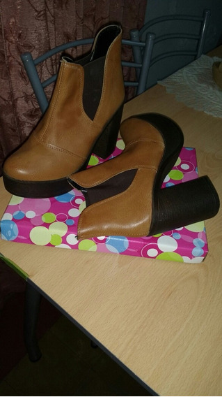 Zapato Con Plataforme Taco Palo..liqido Aprovechen Nuevo