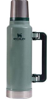 Termo Stanley Clásico 1,4 Litros Verde Con Manija