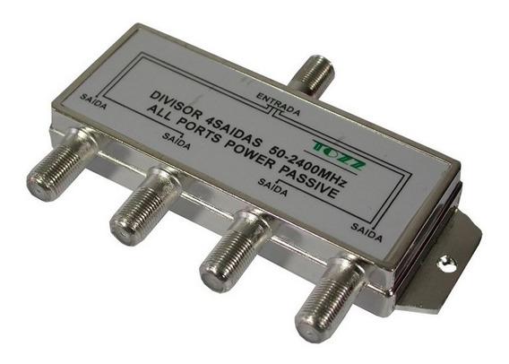 Splitter Divisor De Antena 4 Saídas 50 - 2400 Mhz