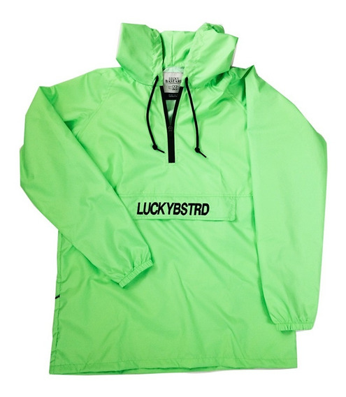 Impermeable Anorak Luckybstrd - Verde Neon