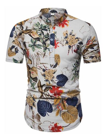 Camisa De Manga Corta De Verano Para Hombre