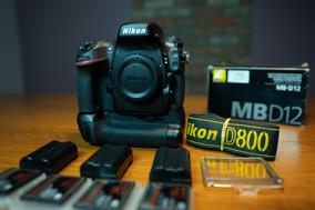 Nikon D800 Corpo+3 Baterias E 4 Cartão De 16g(à Vista 4.850)