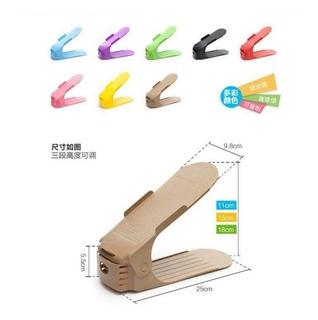 10 Zapatera De Colores Ajustable Organizador Para Zapatos