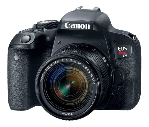 Canon EOS Rebel T7i 18-55mm IS STM Kit DSLR cor preto