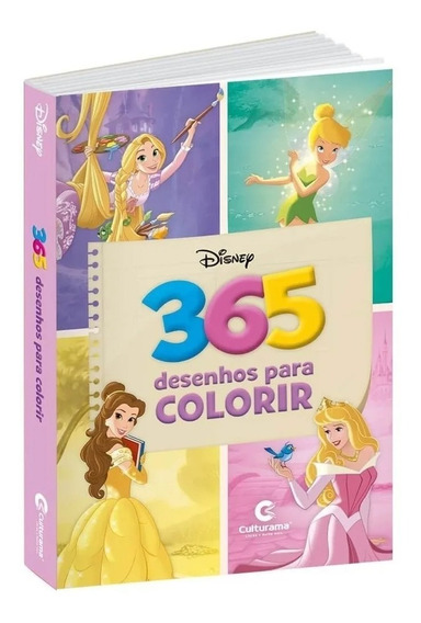 Livro Para Colorir Infantil 365 Desenhos Princesas Disney