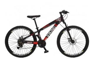 Bicicleta Aro 26 Viking 21 Marchas Freio Disco Colli - Roxo/laranja