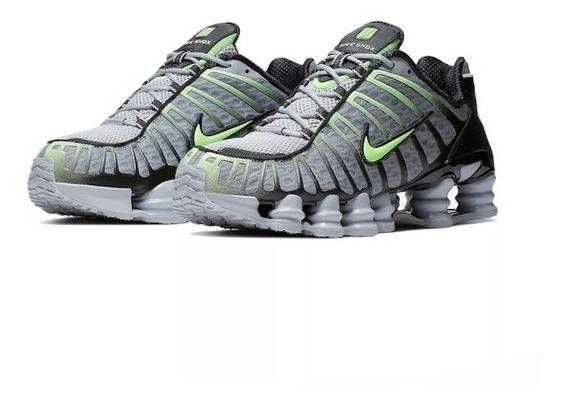 Tenis Masculino Nike Shox 12 Mola Branco E Lanranja Promoção