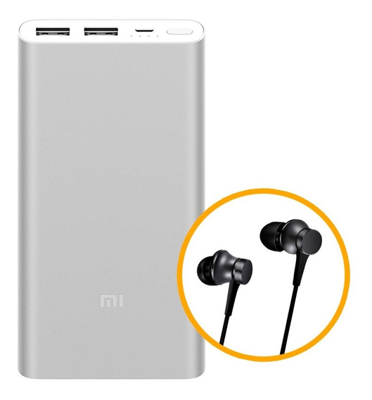 Xiaomi Mi Power Bank 2s, 10000mah + Xiaomi Mi In-ear Basic