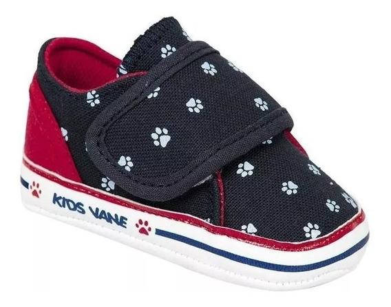 Tenis Kids Vane Niño Azul Textil 1100