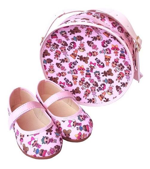 Kit Sapatilha Bolsa Redonda Lol Surprise Rosa Boneca Luxo