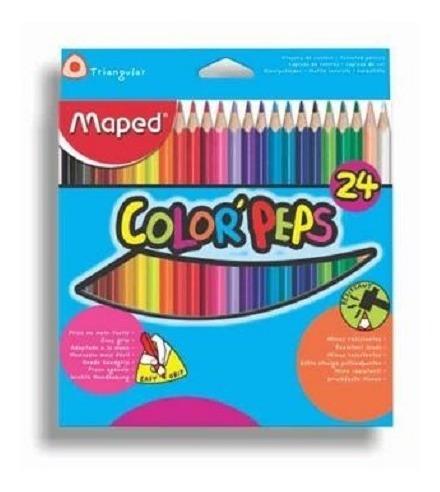 Lapiz Color Largo Maped Peps Est*24 (pack X2)