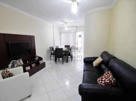 Guarujá Pitangueiras, 2 Dts(1 Suíte ) + 1 Suíte De Empregada , 100 Mts Mar, Elevadores, 2 Vagas, Lazer Com Piscina Aquecida E Churrasqueira. - Ap0866