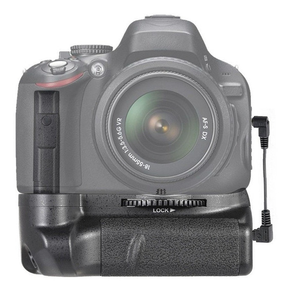 Battery Grip Genérico Bg-2g P/ Dslr Nikon D5100 D5200 D5300