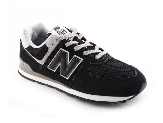 Zapatilla New Balance Gc574gk Negro Gris Niño Rcdmr