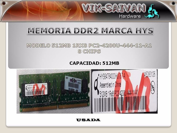 Memoria Ddr2 Hys 512mb Pc2-4200 533mhz 8 Chips 35