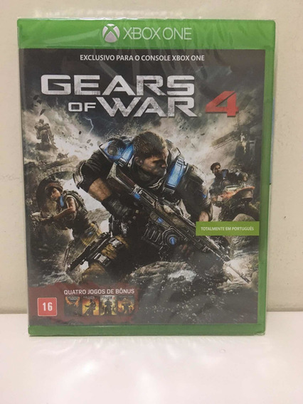 Gears Of War 4 Microsoft Xbox One Novo Lacrado