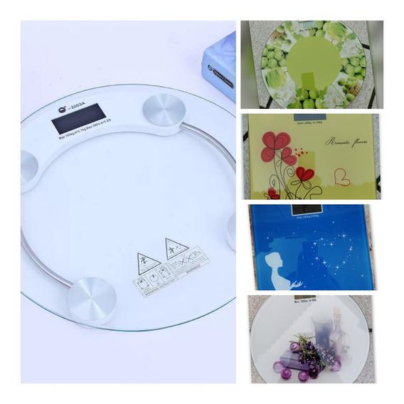 Bascula De Baño Cristal Templado Digital 180k Diseños Enviog