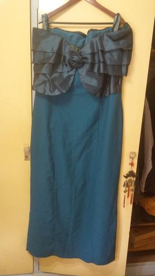 Vestido De Fiesta De Shangtung En Seda Importado