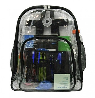 Heavy Duty Clear Backpack Ver A Través Del Est
