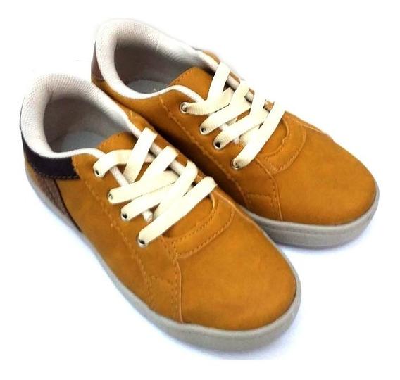 Sapato Masculino Infantil Cor Mostarda - 012910