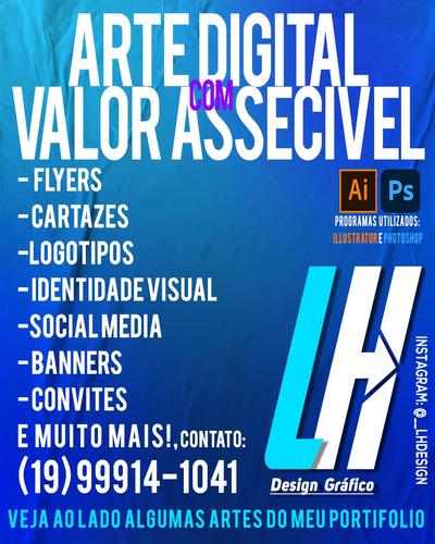 Imagem 1 de 5 de Artes Digitais, Todo Tipo De Artes Digitais Com Preço Bom!