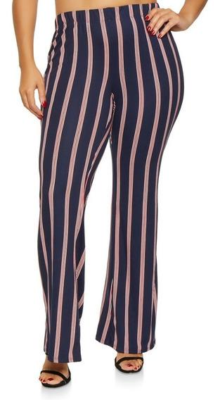 Pantalon Forever 21 Rayado Oxford Talle Grande X3 Usa- 7573