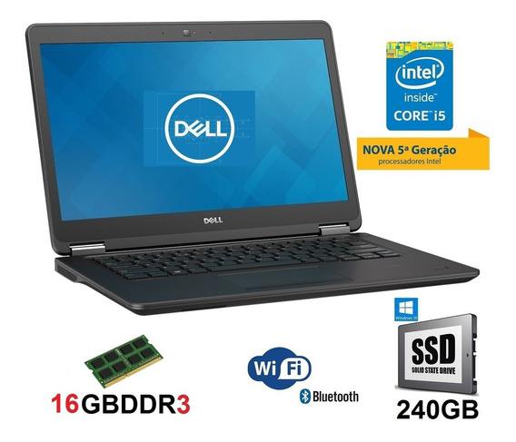 Notebook Dell I5 16gb Ssd 240gb Quinta Geração Promoção