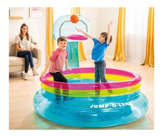 Trampolin, Brincolin Inflable Canasta Basketbol Intex Jump