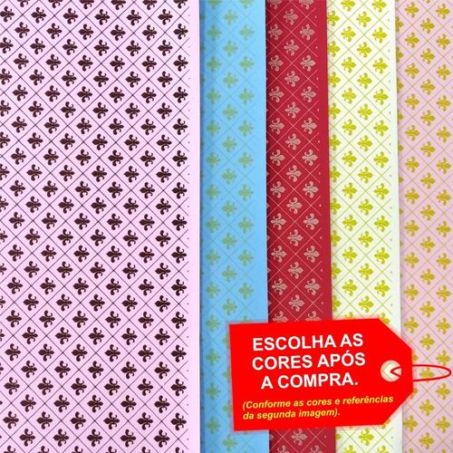 Imagem 1 de 4 de Folha De Eva Estampado Flor De Lis 40x60cm - 5 Unidades