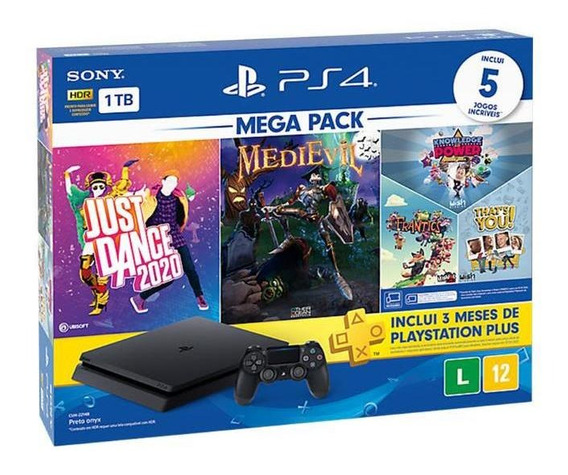 Console Playstation 4 Slim 1tb + 5 Jogos + 3 Meses Bundle 11