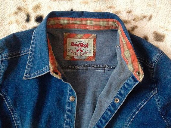 Camisa De Jean Elastizada Hard Rock Cafe Original