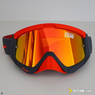 Óculos Thor Sniper Warship Charcoal Orange Lente Red + Clear