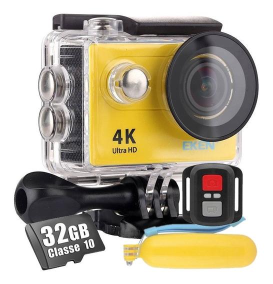 Câmera Eken H9r 4k Original Wi-fi Youtuber Flutuante + 32gb