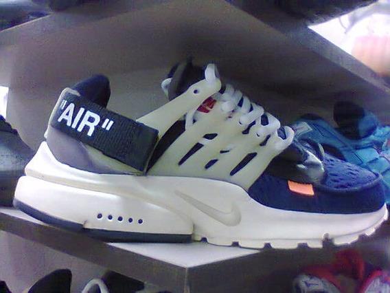 Tenis Nike Air Off White Azul E Bege Nº38 Ao 43 Original
