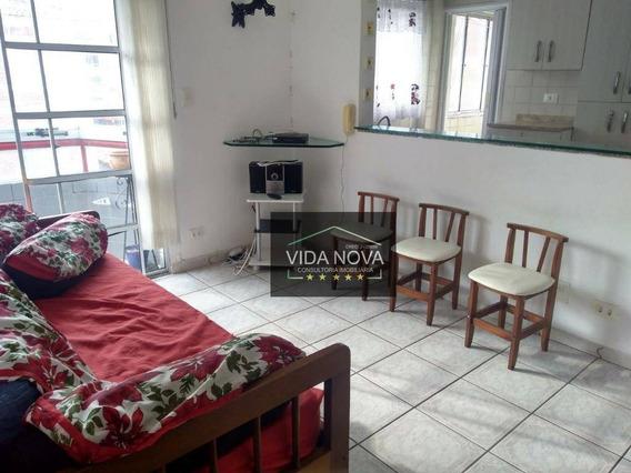 1 Dormitório Mobiliado 50m Da Praia - Excelente Localização