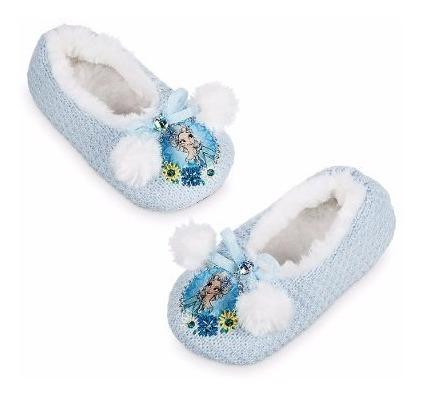 Pantufa Elsa Frozen Disney Store Tamanho 26 Brasil