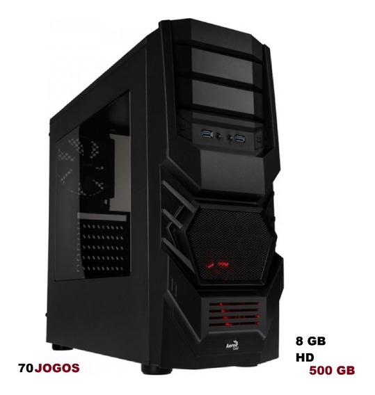 Cpu Gamer A8 7680k Quad Core Hd 500 Gb 8 Gb 70 Jogos Brinde